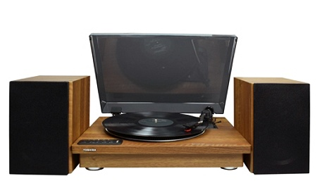 Toshiba 12 Bluetooth Turntable With Stereo Bookshelf Speakers 168 H