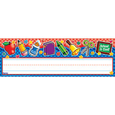 Scholastic Name Plates School Tools Gingham