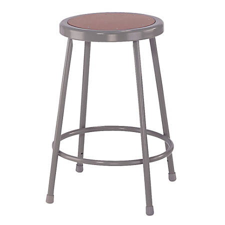 "National Public Seating Hardboard Stools, 24""H, Gray, Set Of 4"
