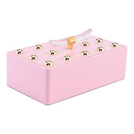 "Zuo Modern Gina Large Box, 7 1/8""H x 8 3/4""W x 15""D, Pink"