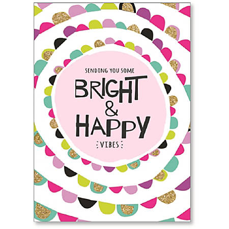 """Viabella Thinking Of You Greeting Card, Vibes, 5"""" x 7"""", Multicolor"""