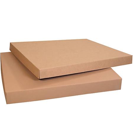 "Office Depot® Brand Heavy-Duty Gaylord Lids, 4""H x 37 1/4""W x 37 1/4""D, Kraft, Pack Of 5"
