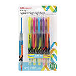 Office Depot® Brand Dual-End Pen-Style Highlighters, Chisel Point, Assorted Colors, Pack Of 5