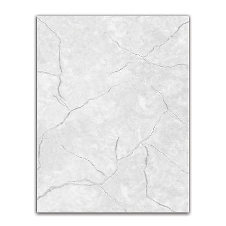 "Geographics® Design Paper, Marble Gray, 8 1/2"" x 11"", Pack Of 100"