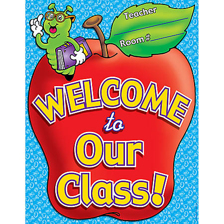 """Scholastic Practice Chart, Welcome To Our Class, 17"""" x 22"""""""