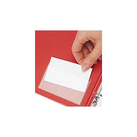 """Cardinal® HOLDit!® Business Card Pockets, Top Loading, 3 3/4"""" x 2 3/8"""", Pack Of 10"""