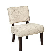 Ave Six Jasmine Accent Chair ScriptDark