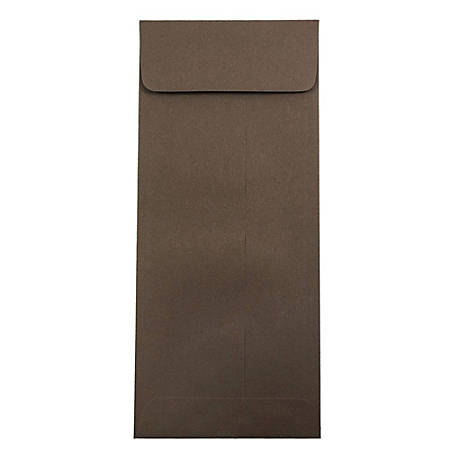 "JAM Paper® #12 Premium Policy Envelopes, 4 3/4"" x 11"", Chocolate Brown, Pack Of 50 Envelopes"