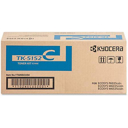 Kyocera TK-5152C Original Toner Cartridge - Laser - 10000 Pages - Cyan - 1 Each