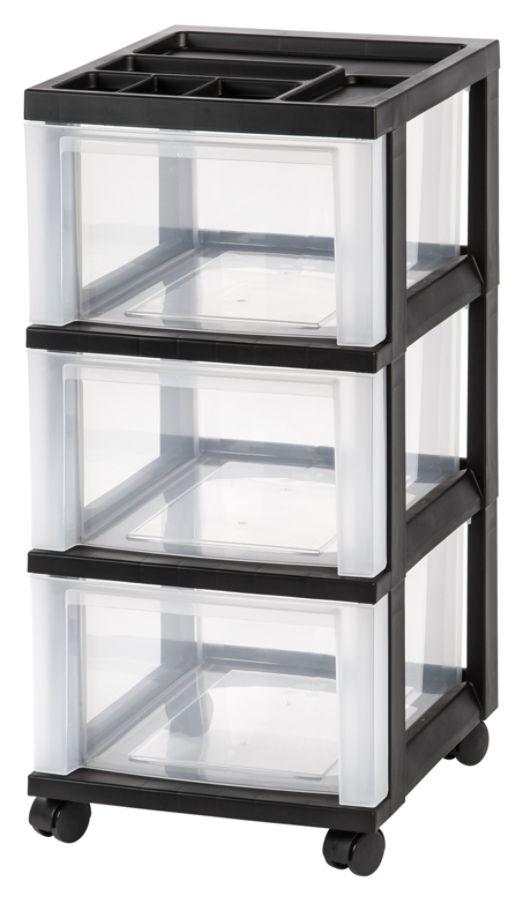 Office Depot Brand Plastic Storage Cart 3 Drawers 26 15 H x 12 110 W