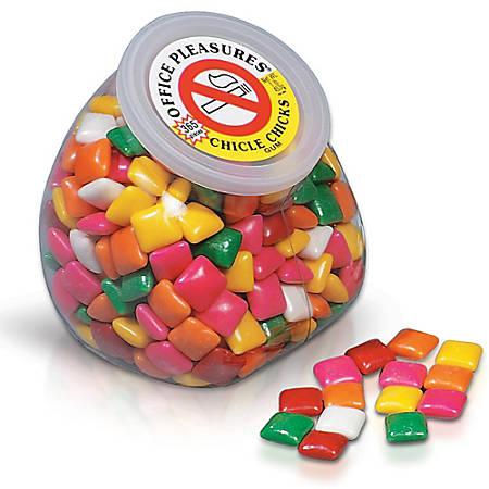 Office Pleasures Gum, Assorted Flavors, 1 Lb Tub