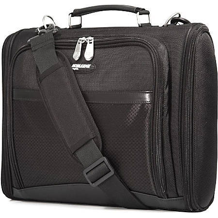 "Mobile Edge Express Carrying Case (Briefcase) for 16"" Chromebook - Black - 1680D Ballistic Nylon - Shoulder Strap, Handle - 12.3"" Height x 15.5"" Width x 3"" Depth"