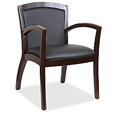 Lorell Guest Chair Bonded Leather Black