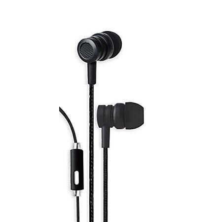 Bytech Wired Earbud Headphones, Black, BYAUEB129BK