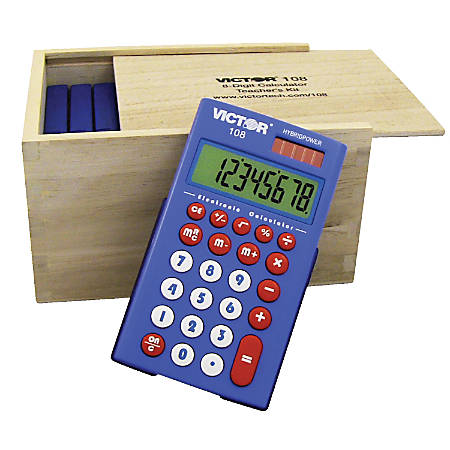 Victor® 108 Teacher's Calculator Kit, Case of 10