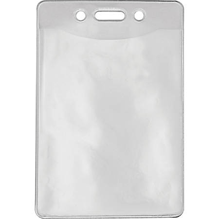 Advantus Government/Military ID Holders - Vertical - Vinyl - 50 / Pack - Clear