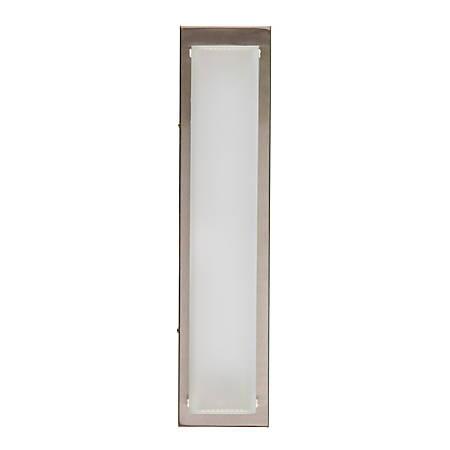 Southern Enterprises Lorant Indoor LED Wall Sconce, White Shade/Chrome Base