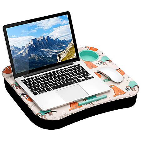 "LapGear Lap Desk With Cup Holder, 14.75""H x 18.5""W x 2.8""D, Sloth"