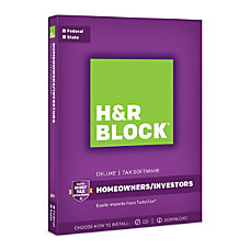 H R Block Deluxe And State