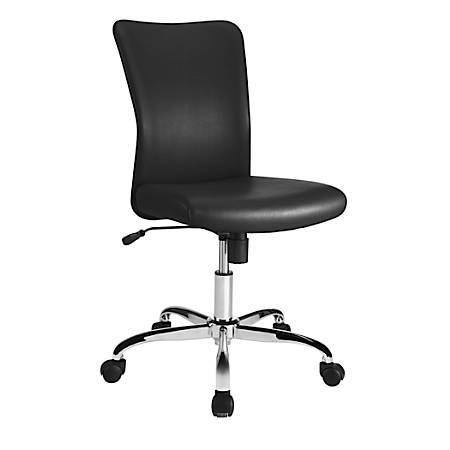 Brenton Studio® Birklee Faux Leather Task Chair, Black/Chrome