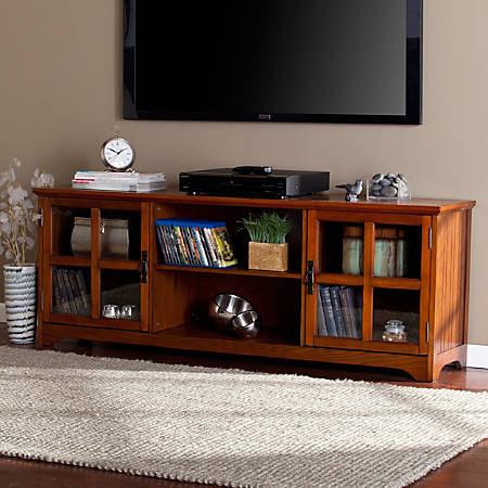 Southern Enterprises Remington Wooden TV/Media Stand, Oak