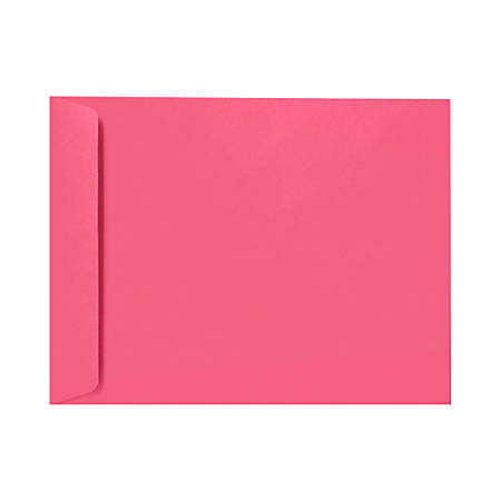 """LUX Open-End Envelopes With Peel & Press Closure, 6"""" x 9"""", Magenta Pink, Pack Of 250"""