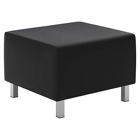 basyx by HON® Modular Lounge Ottoman, Black/Chrome