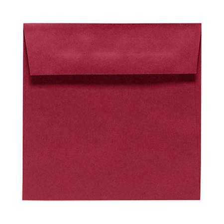 """LUX Square Envelopes With Peel & Press Closure, 6 1/2"""" x 6 1/2"""", Garnet Red, Pack Of 250"""