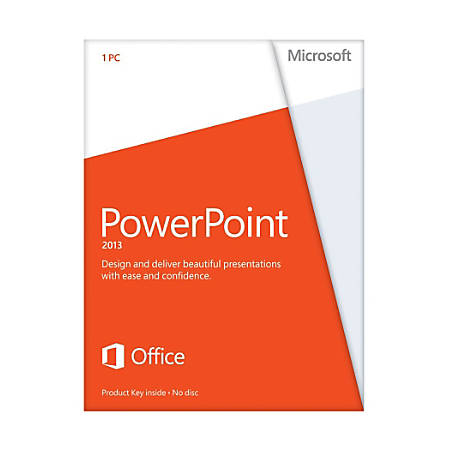 Microsoft PowerPoint 2013 32/64-bit - License - 1 PC - Non-commercial - English - PC