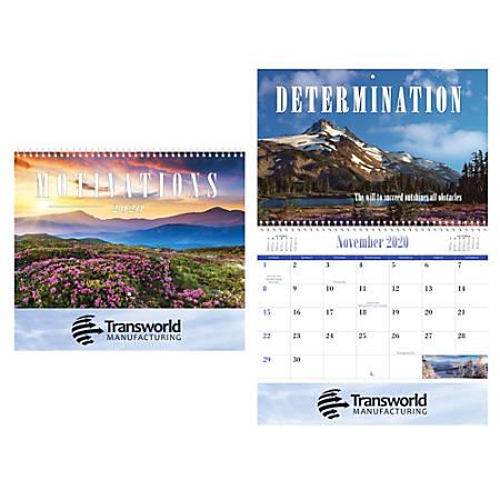 Motivations Wall Calendar, Spiral