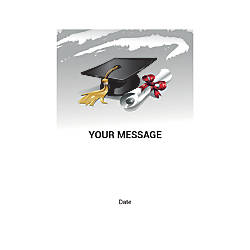 Flat Photo Greeting Card Graduation Hat