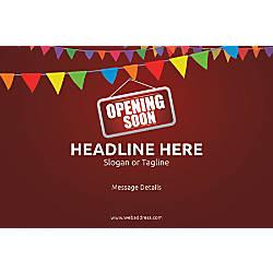 Custom Poster Opening Soon Bunting Horizontal