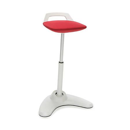 OFM Vivo Height-Adjustable Perch Stool, Red/Cream