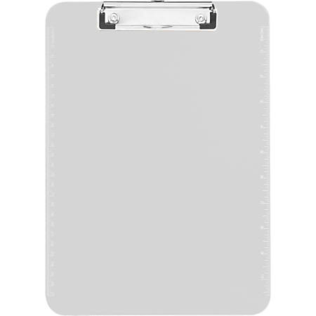 """Sparco Plastic Clipboard With Flat Clip, 8 1/2"""" x 11"""", Clear"""