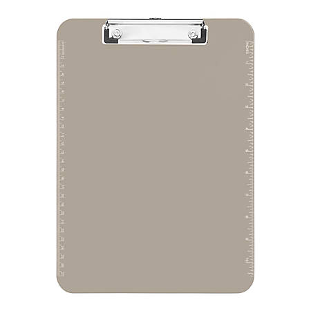 """Sparco Plastic Clipboard With Flat Clip, 8 1/2"""" x 11"""", Smoke"""