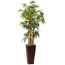 Nearly Natural 4H Silk Bamboo Tree