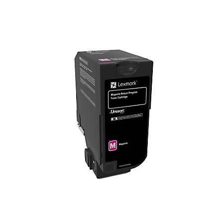 Lexmark™ Unison Return Program Toner Cartridge, 74C10M0, Magenta