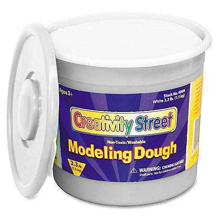 Creativity Street 3lb Tub Modeling Dough - Modeling - 1 Each - White