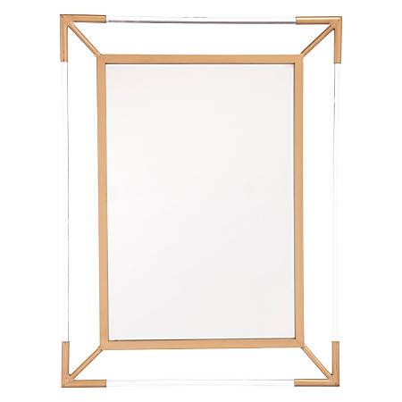 """Zuo Modern Four Points Mirror, 32 5/16""""H x 24 7/16""""W x 2 7/16""""D, Antique"""
