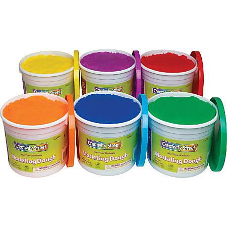 Creativity Street Modeling Dough - Modeling - 6 / Carton - Red, Blue, Yellow, Green, Orange, Purple