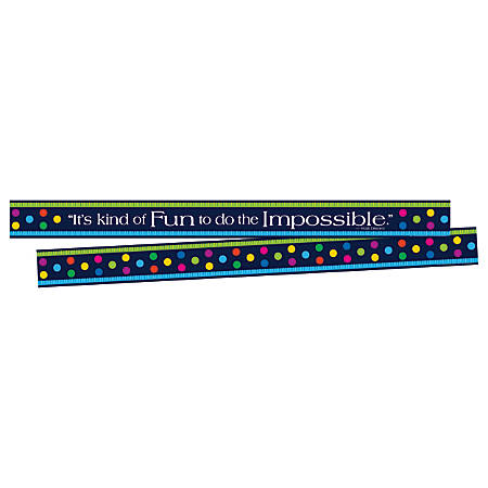 "Barker Creek Double-Sided Border Strips, 3"" x 35"", Italy Punti Felici, Set Of 24"