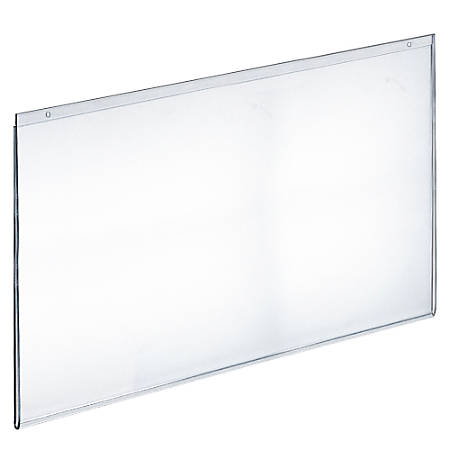 """Azar Displays Wall-Mount U-Frame Acrylic Sign Holders, 17"""" x 22"""", Clear, Pack Of 10"""