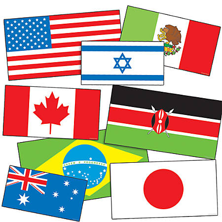 """Scholastic Bulletin Board Accents, Flags, 9"""" x 24"""""""