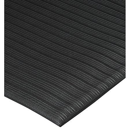 Genuine Joe Air Step Anti-Fatigue Mat, 3' x 60', Black
