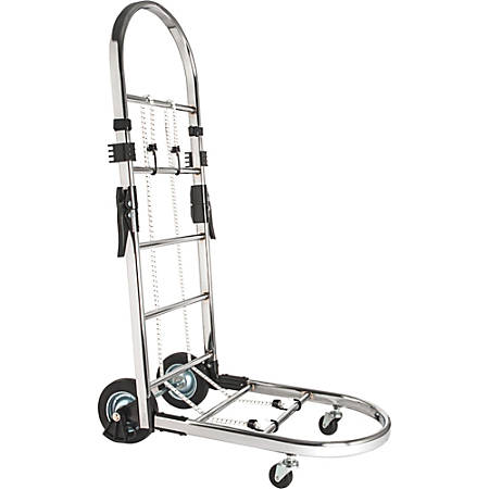 Sparco Portable Platform Cart, 200 Lb Capacity, Chrome