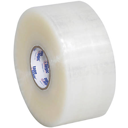 """Tape Logic® #400 Industrial Acrylic Tape, 3"""" Core, 2"""" x 220 Yd., Clear, Case Of 6"""