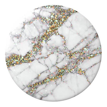 """PopSockets PopGrip, Gold Sparkle Marble, 1-9/16"""""""