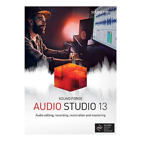 Sound Forge Audio Studio 13, Traditional Disc
