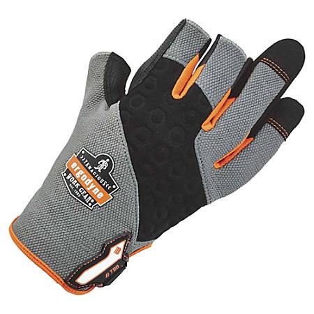 ProFlex 720 Heavy-duty Framing Gloves - 11 Size Number - XXL Size - Neoprene Knuckle, Poly - Gray - Heavy Duty, Padded Palm, Pull-on Tab, Reinforced Fingertip, Hook & Loop Closure, Abrasion Resistant, Rugged, Reinforced Palm Pad, Reinforced Saddle, Machine Washable, Comfortable - For Construction, Carpentry, Roofing, Equipment Operation, Mechanical Work, Tools - 1 / Pair