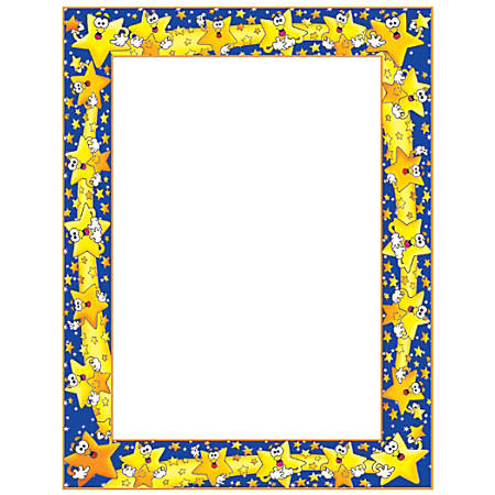 """Scholastic Colorful Design Paper, Star Students, 8 1/2"""" x 11"""", Pack Of 50"""